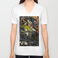 death note V-neck T-shirts featuring Death Note by SpontaneousOD