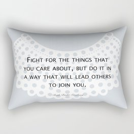 Fight, Lead - RBG (blue) *also in grey Rectangular Pillow