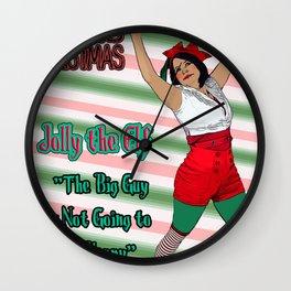 Mars Hates Christmas - Jolly Happy Wall Clock