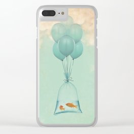 Flight to Freedom Clear iPhone Case