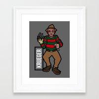 freddy krueger Framed Art Prints featuring Freddy Krueger by AhamSandwich