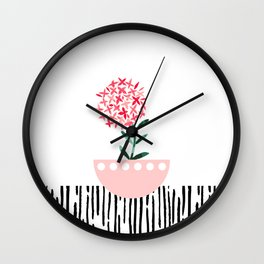 Potted Plant 4 Wall Clock