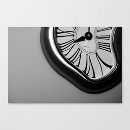 Drunk time ticks away Canvas Print