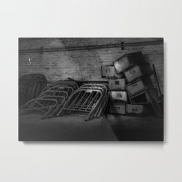 Growing Old - Traces of Interior Life in a Forgotten Place Metal Print