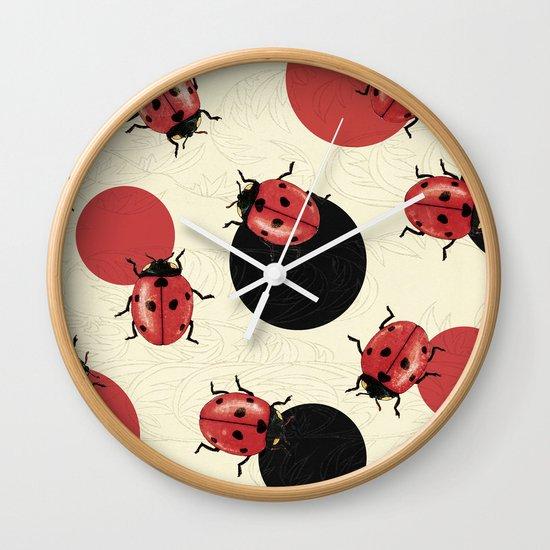 Ladybird Polka Wall Clock