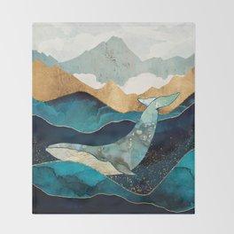 Blue Whale Throw Blanket