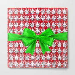 Merry Cannabismas Metal Print