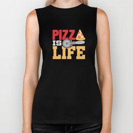 Pizza Is Life Italy Italian Food Foodie Gift Biker Tank