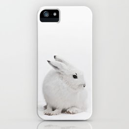 SNOW BUNNY  - ARCTIC HARE iPhone Case