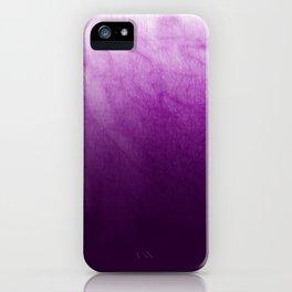 Purple Watercolor On Cotton iPhone Case