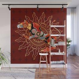 Red Lion Batik Wall Mural