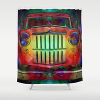 grateful dead Shower Curtains featuring Jump Like A Willys - Sugar Magnolia, Grateful Dead by Soulive Design