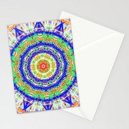 12 star mandala clock / phone cover Stationery Cards