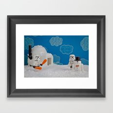 Snowdroid Building on Hoth Framed Art Print