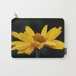 Bright Yellow And Black Carry-All Pouch