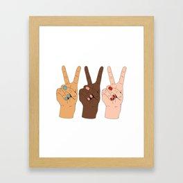 Peace Hands 3 Framed Art Print