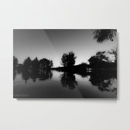 BLACK GLASS Metal Print