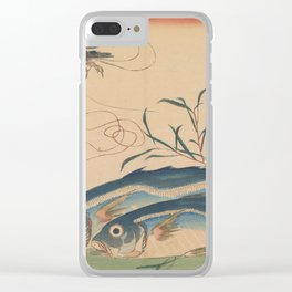Horse Mackerel with Shrimp or Prawn Clear iPhone Case