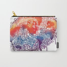 global map finger print Carry-All Pouch