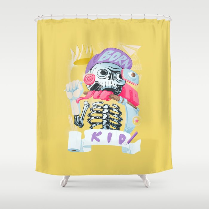 Born to kid Shower Curtain