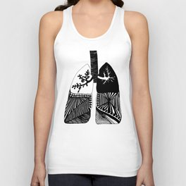 Particle Filtration - Lungs - Respiratory System Unisex Tank Top