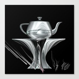 Silver and Black on Show Canvas Print