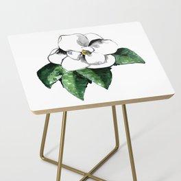 White magnolia Side Table