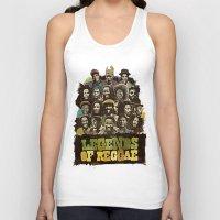 reggae Tank Tops featuring Legends of Reggae Poster by Panda