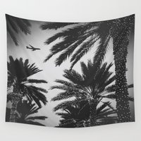 plane Wall Tapestries featuring PLANE PALMS by Troy Spino
