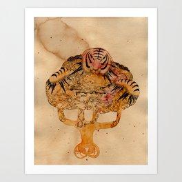 Lightning Tiger Art Print