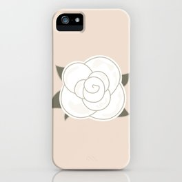White vintage rose. Vector Illustration iPhone Case