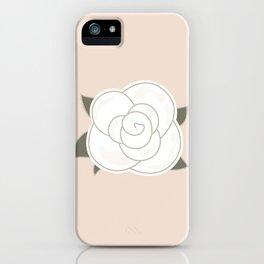 White vintage rose. Vector Illustration iPhone Case