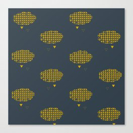 Dco mustard clouds Canvas Print