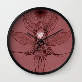 Rise and Root Wall Clock
