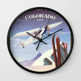 Steamboat Springs Colorado Wall Clock