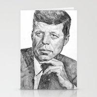 jfk Stationery Cards featuring JFK by Monifa Charles