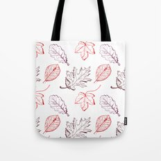 Leaves (reds) Tote Bag