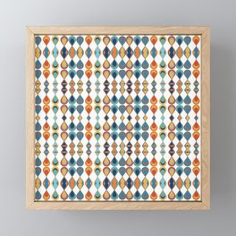 Mid Century Drop Pattern Framed Mini Art Print