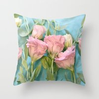 destiny Throw Pillows featuring Destiny by Lisa Argyropoulos