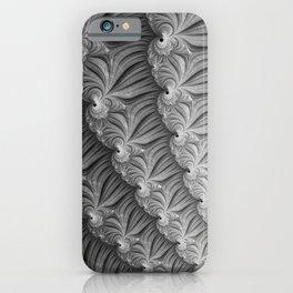 Grey Ruffles - Fractal Art  iPhone Case