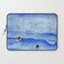 Getting ready to take this wave surf art Laptop Sleeve