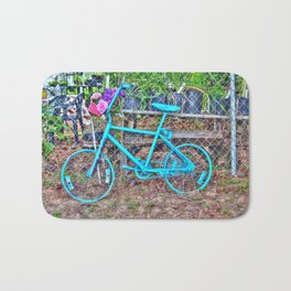 Turquoise Bicycle Bath Mat