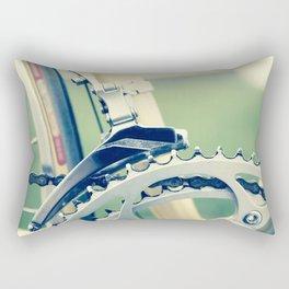 Close up of a bike chain Rectangular Pillow