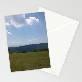 Meadow and mountains Stationery Cards