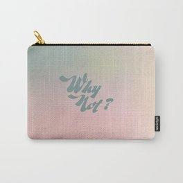"""Vintage/Retro style """"Why Not?""""- Color Blur - Psychedelic   Carry-All Pouch"""