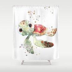 Nemo turtle Shower Curtain