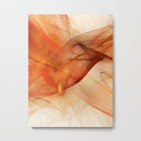 Orange Flames Metal Print