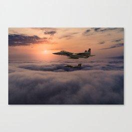 Eagles In Flight Canvas Print