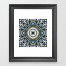 Ornate Colorful Mandala Framed Art Print