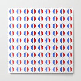 Flag of France 15- France, Français,française, French,romantic,love,gastronomy Metal Print